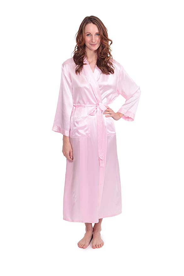 satin and silk robe material